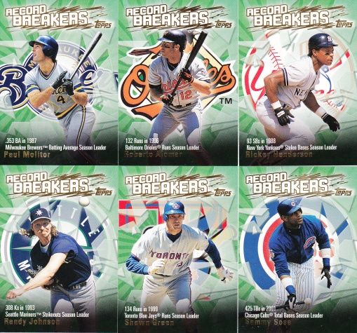 2003 Topps s2 HTA box Record Breakers