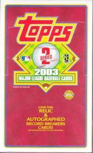 2003 Topps Series 2 HTA Jumbo box