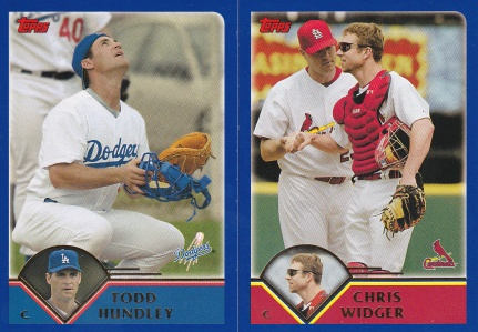 2003 Topps Traded best pics Hundley Widger