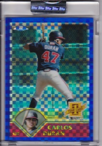 2003 Topps Traded Chrome Uncirculated Carlos Duran