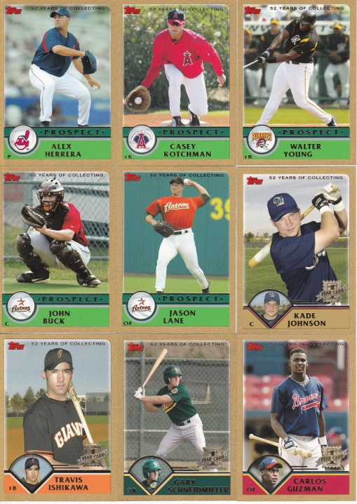 2003 Topps Traded Gold cards