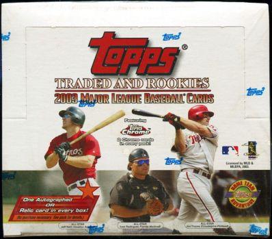 2003 Topps Traded HTA box
