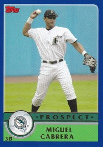 2003 Topps Traded Miguel Cabrera PROS