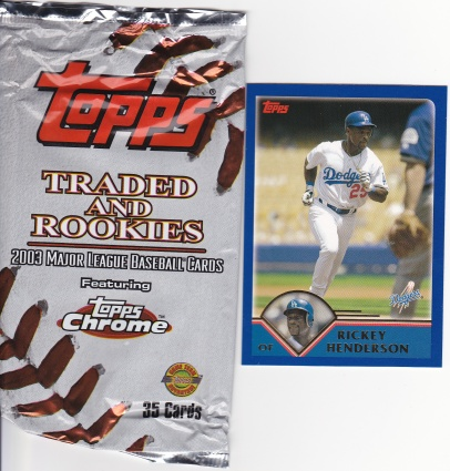 2003 Topps Traded Rickey and pack
