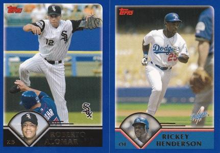 2003 Topps Traded Roberto Alomar Rickey Henderson