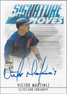 2003 Topps Traded Signature Moves Victor Martinez