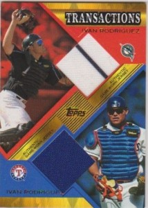 2003 Topps Traded Transaction Relic Dual Pudge