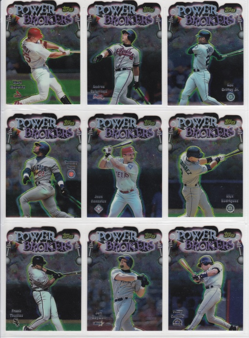 1999 Topps Power Brokers complete