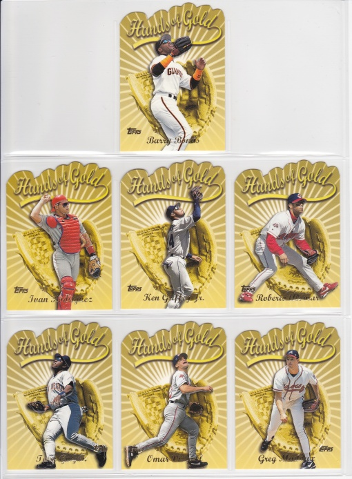 2000 Topps Hands of Gold complete