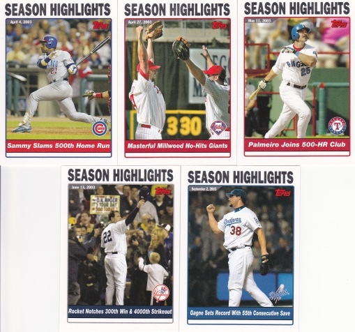2004 Topps Season Highlights