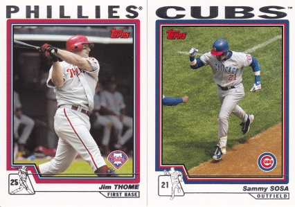 2004 Topps Thome Sosa first card