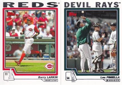 2004 Topps Wire Reds Piniella Larkin