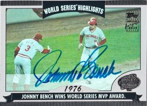 2004 Topps World Series Highlights Auto Johnny Bench