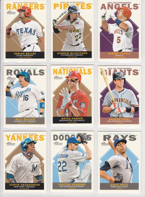 2013 Topps Heritage New Age Performers Complete