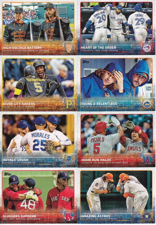 2015 Topps Update Combo cards