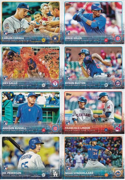 2015 Topps Update rookie debut