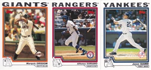 2004 Topps batting Grissom Soriano Giambi