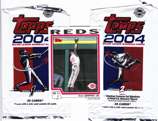 2004 Topps packs with Griffey