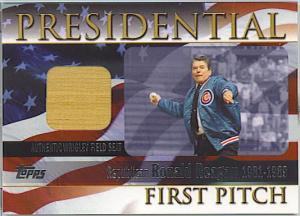 2004 Topps Presidential 1st Pitch Reagan