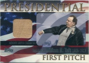 2004 Topps Presidential First Pitch Taft