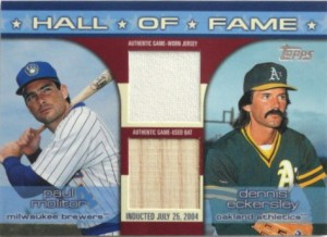 2004 Topps Traded HOF Relics Dual Molitor Eck