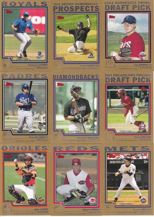 2004 Topps Update box Gold