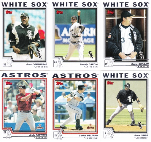 2004 Topps Update White Sox Astros