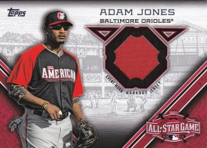 2015 Topps Update All-Star Stitch Adam Jones