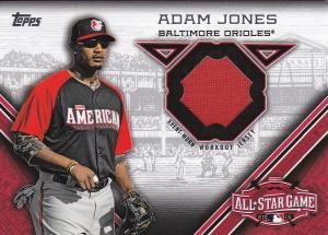 2015 Topps Update All-Star Stitch Adam Jones