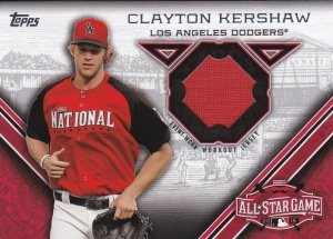 2015 Topps Update All-Star Stitch Kershaw