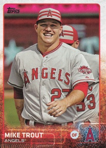 2015 Topps Update box Stat variation Trout