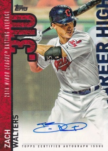 2015 Topps Update Career High auto Zach Walters