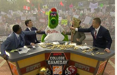 Phillie Phanatic College Game Day