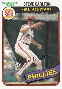 1980 Burger King PHR Steve Carlton
