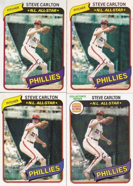 1980 Topps Steve Carlton rainbow