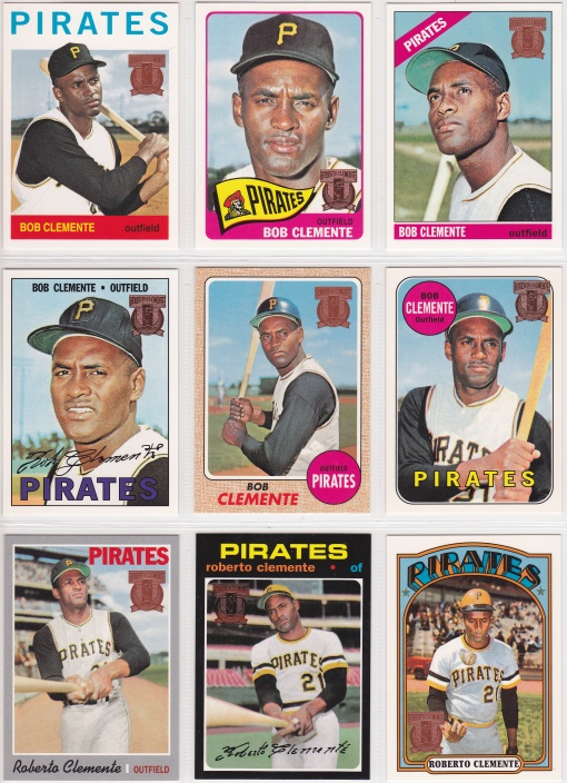 1998 Topps Clemente Reprint complete_0001