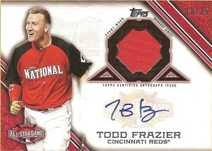 2015 Topps Update All-Star Stitch Auto Frazier