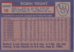 1984 Nestle Yount back