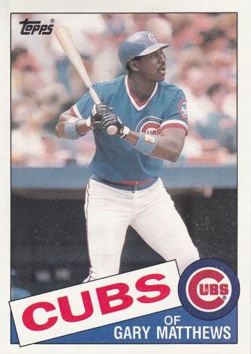 1985 Topps Super Gary Matthews