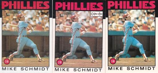 1986 Topps Schmidt rainbow