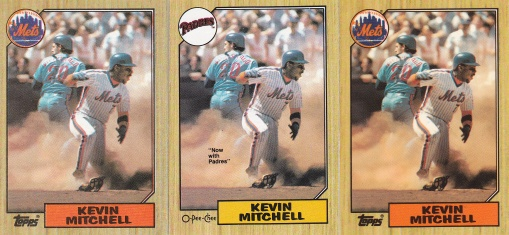 1987 Topps Kevin Mitchell rainbow
