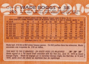 1988 O-Pee-Chee Boggs back