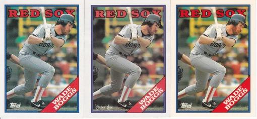 1988 Topps Boggs rainbow