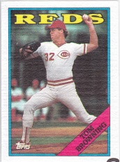 1988 Topps Cloth Tom Browning