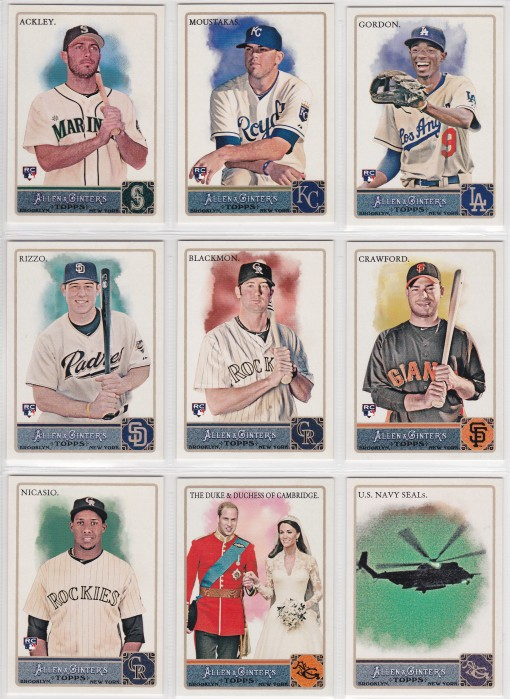 2011 Ginter Glossy Exclusives complete