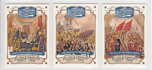 2012 Allen Ginter Historical Turning Points complete