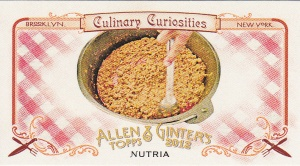 2012 Ginter Culinary Curiosities CC1 Nutria
