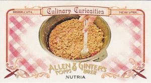2012 Ginter Culinary Curiosities CC1 Nutria