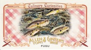 2012 Ginter Culinary Curiosities CC7 Fugu