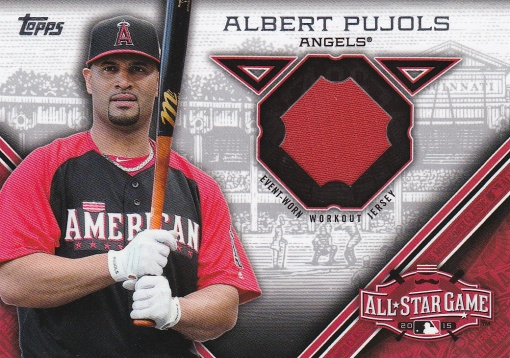 2015 Topps Update All-Star Stitch Pujols